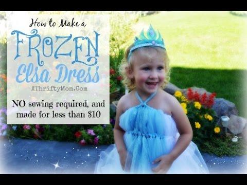 Frozen Queen Elsa Dress   DIY  Princess Elsa
