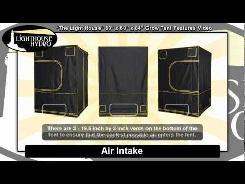 Lighthouse Hydro Grow Tent - 5' x 5' x 7' Features Video