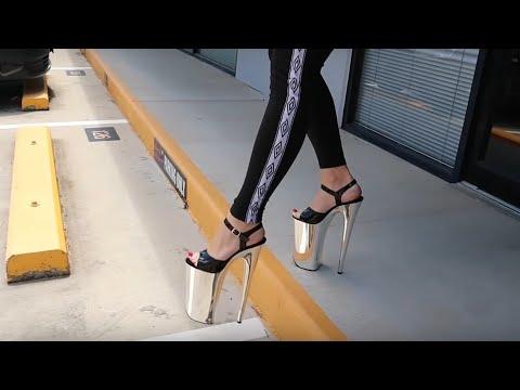 Xxx Mp4 Review Walking In Pleaser Beyond 009 Silver Chrome Black 10 Inch High Heel Platform Shoes 3gp Sex