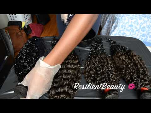 HAIR | How I Dyed My Virgin Hair Blue-Black ft. Aliexpress