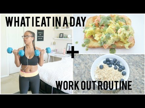 What I eat in a day to lose weight with workout routine!