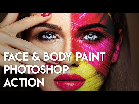 Face and Body Paint Photoshop Action - How to use TUTORIAL