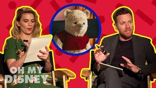 Ewan McGregor and Hayley Atwell Draw Characters From Disney