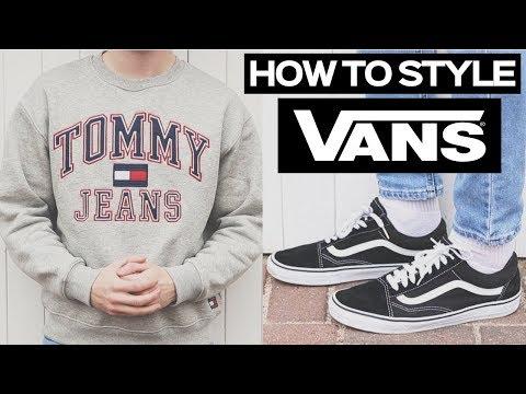 How To Style Vans Old Skools -  Mens Streetwear Winter Lookbook 2018