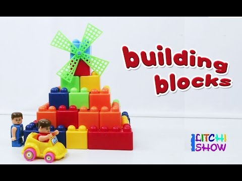 Making of pyramid with building block set | Kids Building Blocks  | Block sets For Kids