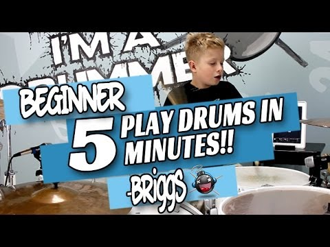 How to Play Drums in 5 Minutes Beginner Drum Lesson
