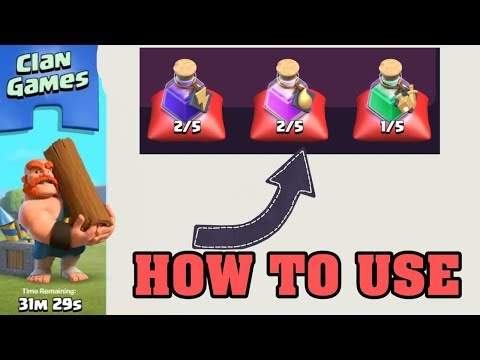 CHOOSING MAGIC ITEMS & USING MAGIC ITEMS ,CLAN GAMES REWARDS