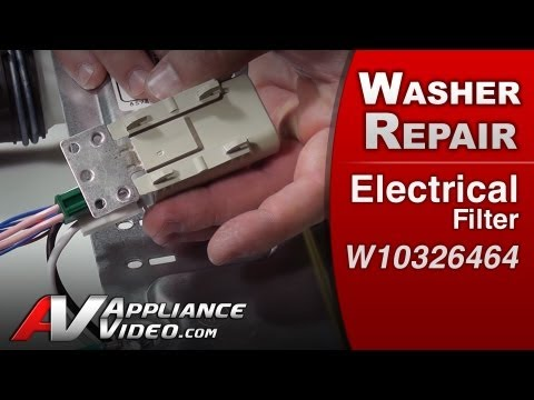 Electrical Filter - Washer Repair (Whirlpool # W10326464 Replacement Part)