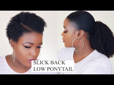 HOW TO SLICK BACK PONYTAIL ON NATURAL HAIR