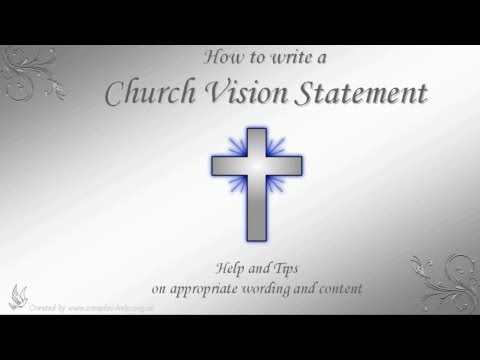 How to write Church Vision Statements