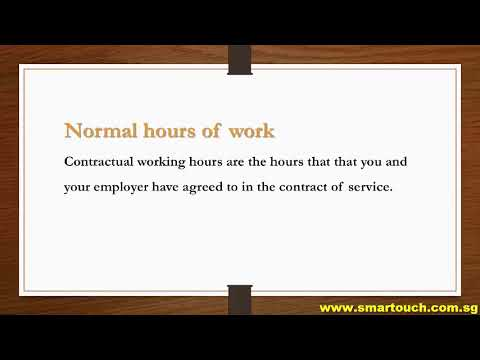 Payroll Singapore : Employment Practice - Hours Of Work