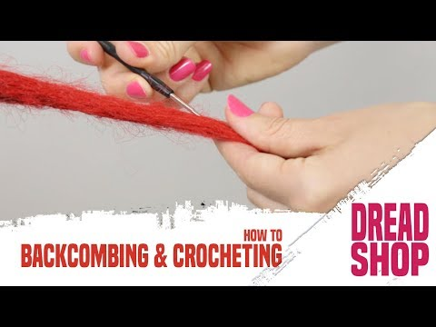 How to make Synthetic Dreadlocks | Backcombing and Crocheting method, by Dreadshop