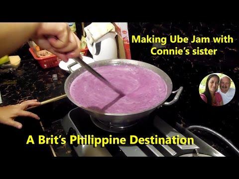 Making Ube Jam