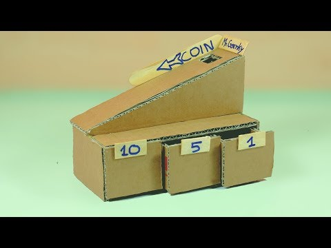 How to make coin sorter machine from cardboard