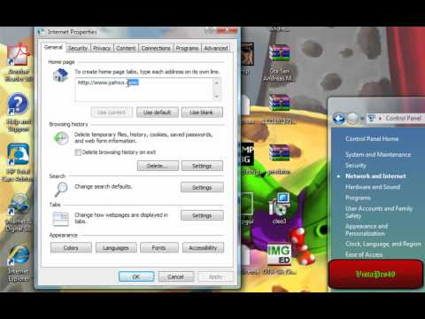 How To: Change your Homepage on Windows Vista