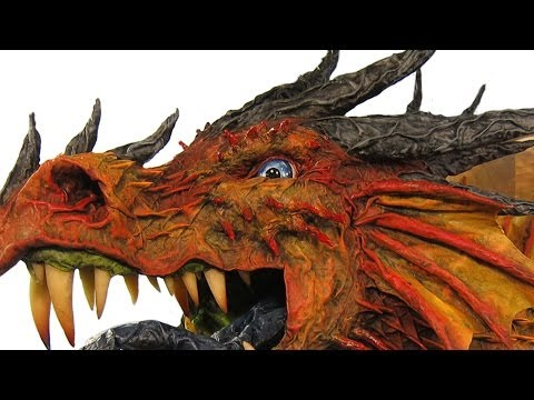 Great Paper Mache Dragon Trophy
