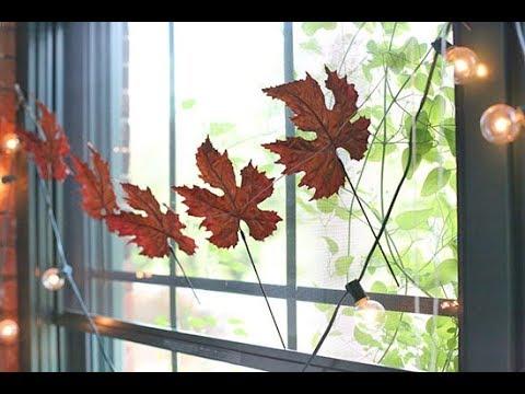 DIY Autumn Leaf Garland