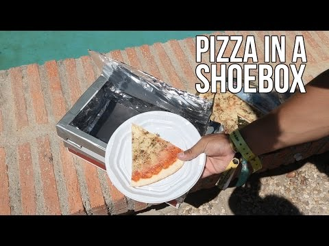 How to make a pizza in a shoebox - Science Experiments