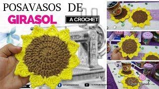 Posavasos De Girasol A Crochet Tejidos Para Regalos Manuales Dia