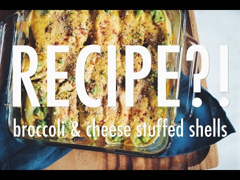 BROCCOLI & CHEESE STUFFED SHELLS | RECIPE?! EP #6 (hot for food)
