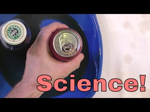 Science Experiment to Prank Friends! - Soda Can Fizz and Carbonation