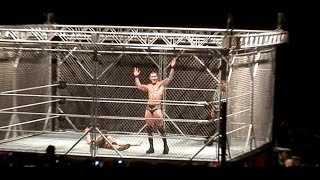Randy Orton (C) VS. John Cena Steel Cage Match for WWEWHC