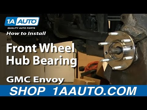 How To Install Replace Front Wheel Hub Bearing 2002-09 GMC Envoy plus XL XUV