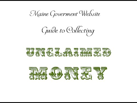 How to Search/Claim Unclaimed Property/Money (Maine) No Fees