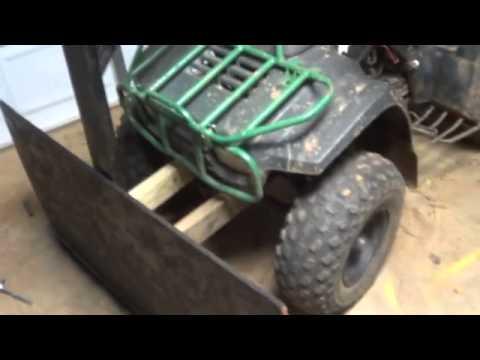 homemade atv brush plow
