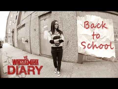 WrestleMania 29 Diary - AJ Lee goes back to school: WWE.com Exclusive, April 3, 2013