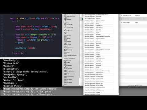 NodeJS Fast Parallel Shopify Scrape (Async Await & Cheerio)