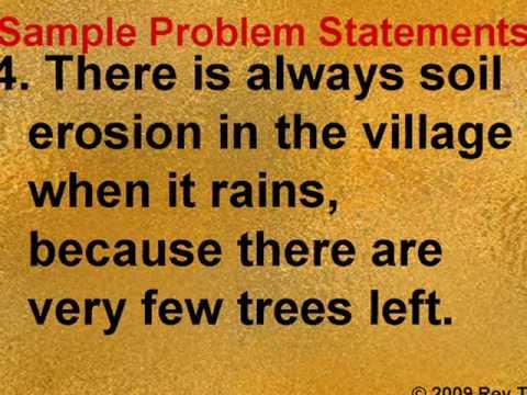 Sample Problem Statements -- Rey Ty