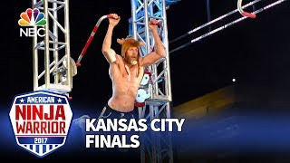 "Morgan ""Moose"" Wright at the Kansas City City Finals - American Ninja Warrior 2017"