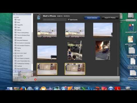 Importing Video into iMovie using iPhoto
