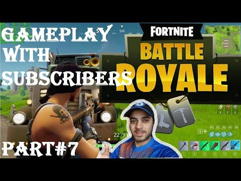 GAMING WITH YOUTUBE SUBSCRIBERS + Fortnite Gameplay HINDI part 7 Ps4
