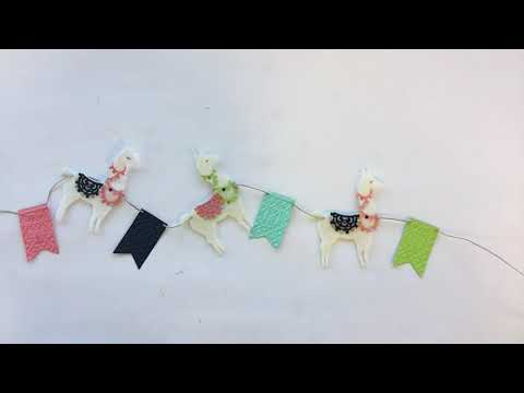 ADORABLE & SWEET! DIY Festive Llama Banner