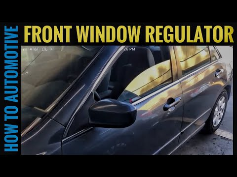 How to Replace the Front Door Window Regulator on a 2002-2007 Honda Accord