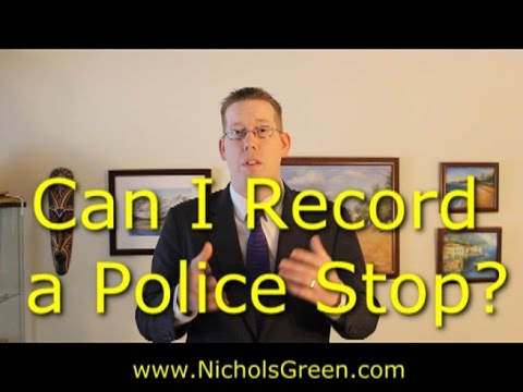 Can you video record the police during a traffic stop in Virginia?