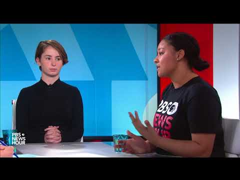 Kids who walked out see their generation as the one 'getting things done' on the gun debate