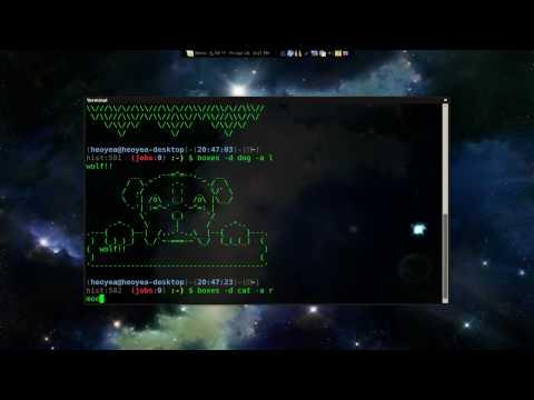 ASCII Art - Boxes - Linux Mint 8