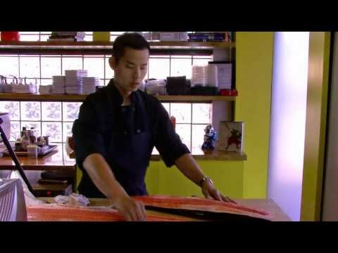 How to fillet and portion whole salmon for sushi and sashimi