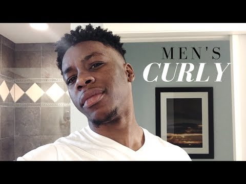 The Best Men's Curly Hair Routine Ever! Fast & Easy!( Natural Curls )