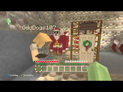 minecraft lets play christmas decorations