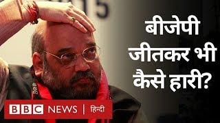 Maharashtra में Amit Shah BJP को जीतकर भी हारने से क्यों नहीं बचा पाए? (BBC Hindi)