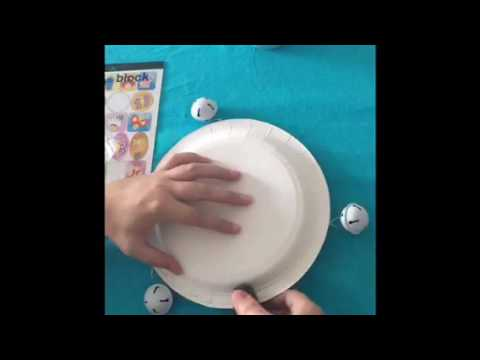 How to make a tambourine - kids' crafts