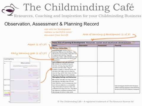 The Childminding Cafe's EYFS 2012 Circle video tutorial