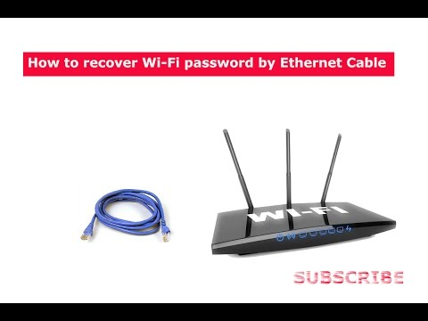 How To Recover or View WiFi Password Using Ethernet Cable