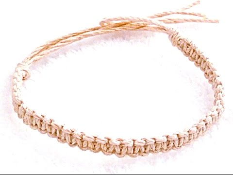 DIY How to Make a Basic Hemp Bracelet Step By Step