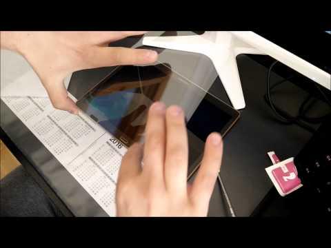 Tablet Tempered glass installation Tutorial