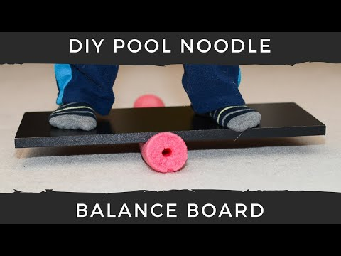 DIY Pool Noodle Balance Board for Kids